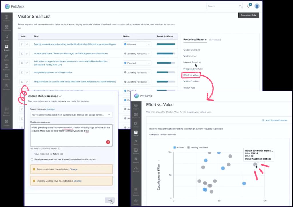 PetDesk | Pendo Product Screenshot