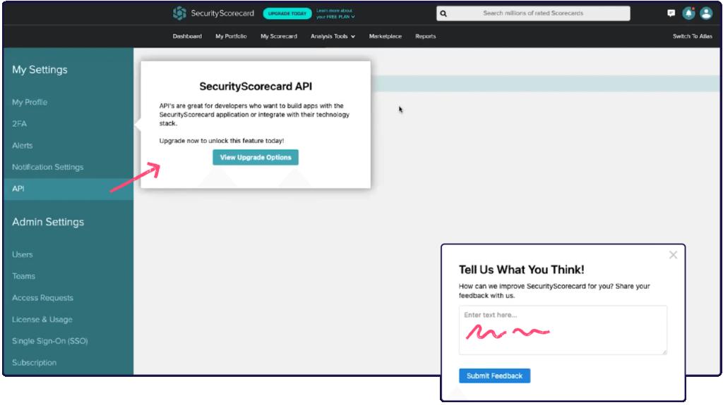 SecurityScorecard   Pendo Product Screenshot