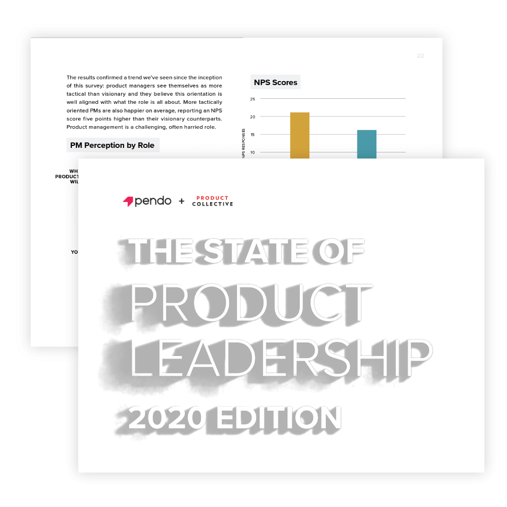 Pendo: The State of Product Leadership Report 2020 cover image