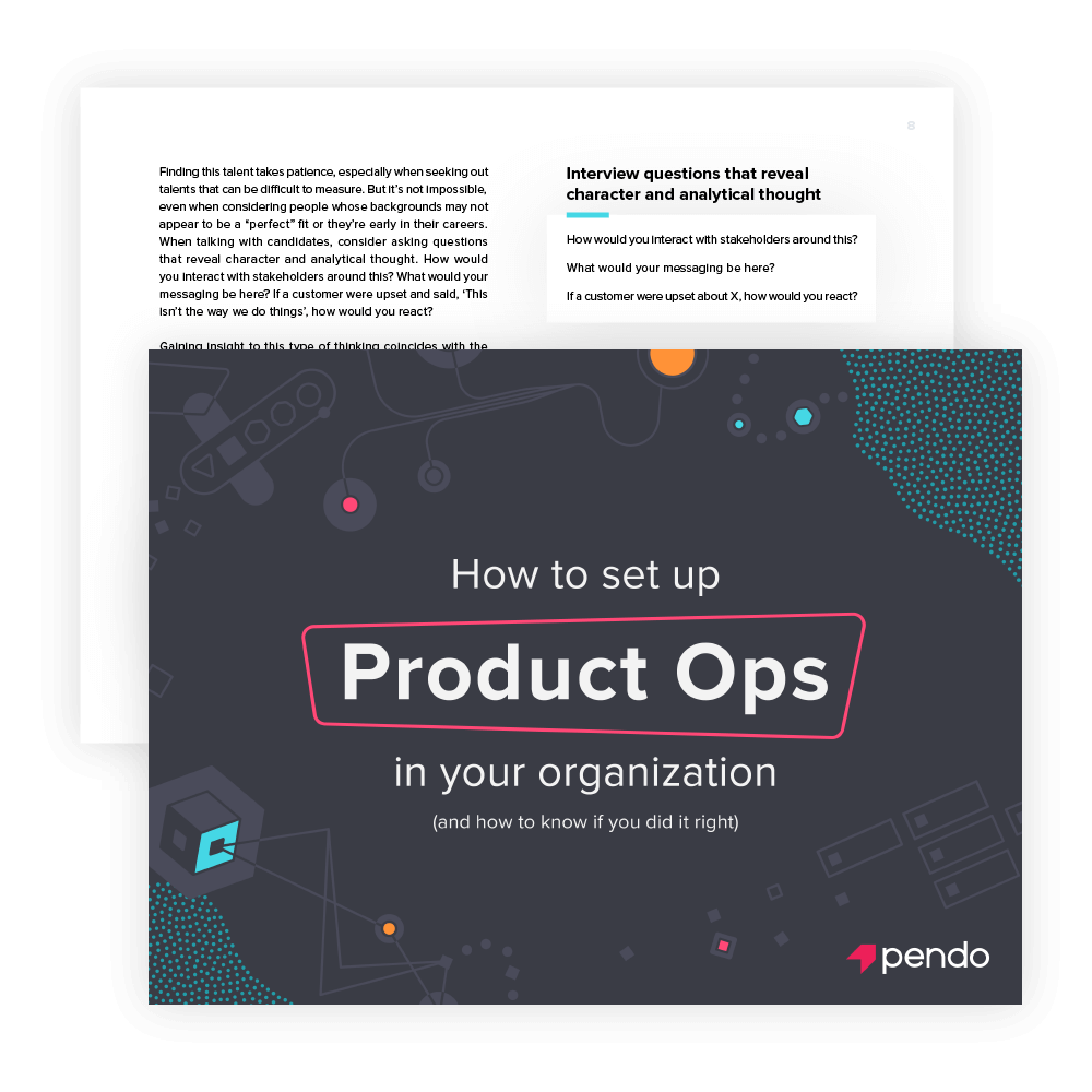 Pendo eBook: How to set up product ops in your organization: cover image