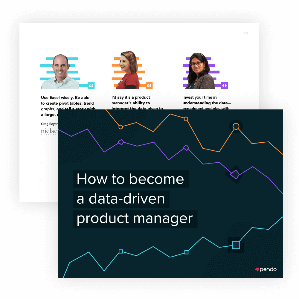 Pendo e-book: How to become a data-driven product manager